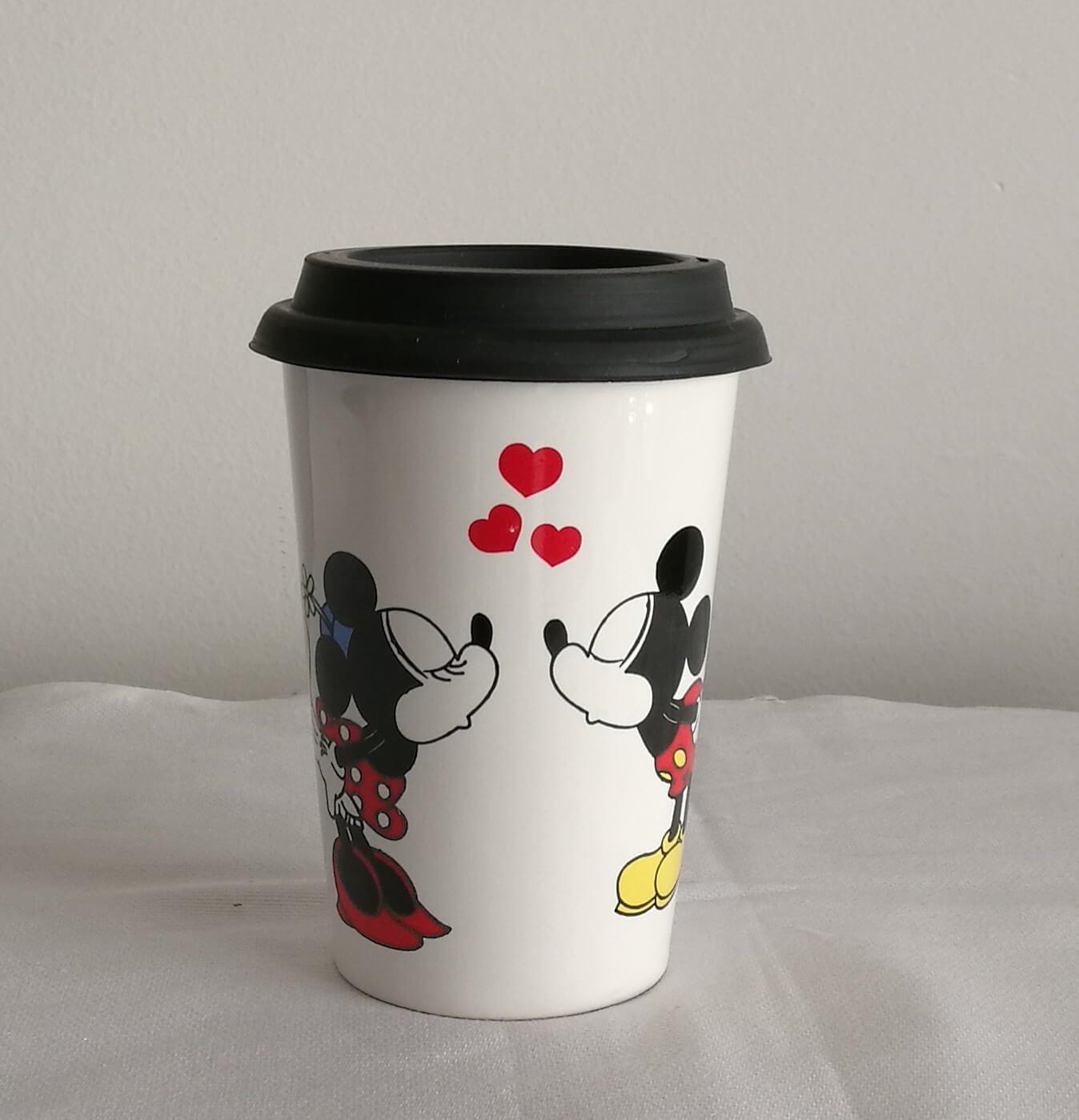 Vaso Térmico Motivo Frases De Coffee Mickey Minnie Anas